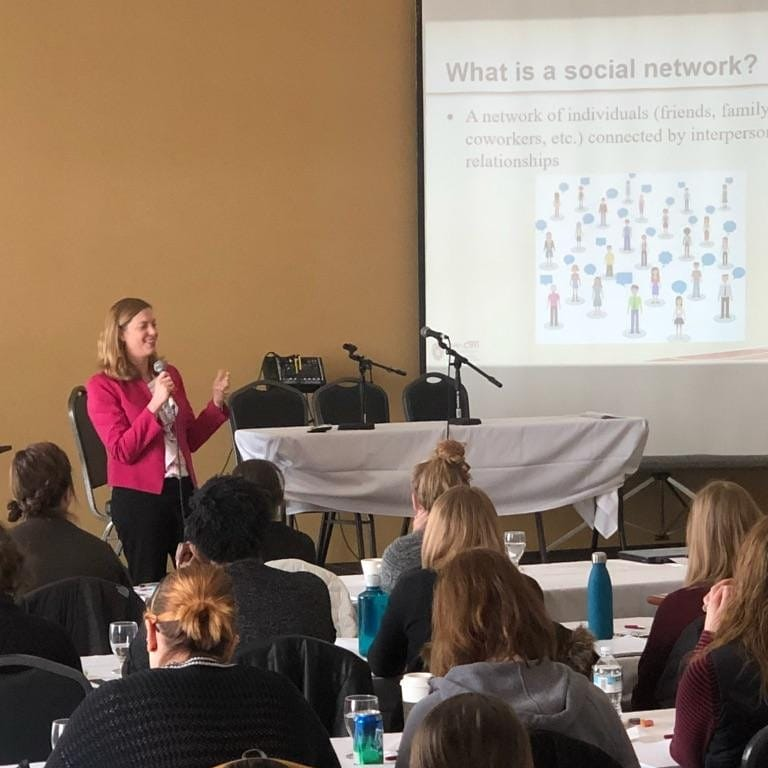 UW-CTRI Associate Director of Research Dr.Megan Piperspoke March 8 about quitting smoking at the 2018 Annual First Breath Tobacco Cessation Conference in Johnson Creek.