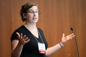 Dr. Danielle McCarthy presents at DOM Research Day 2018