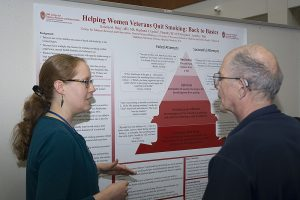 Dr. Kristin Berg presents a poster at DOM Research Day 2018