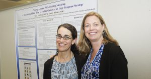 Drs. Tanya Schlam and Megan Piper present posters at DOM Research Day 2018