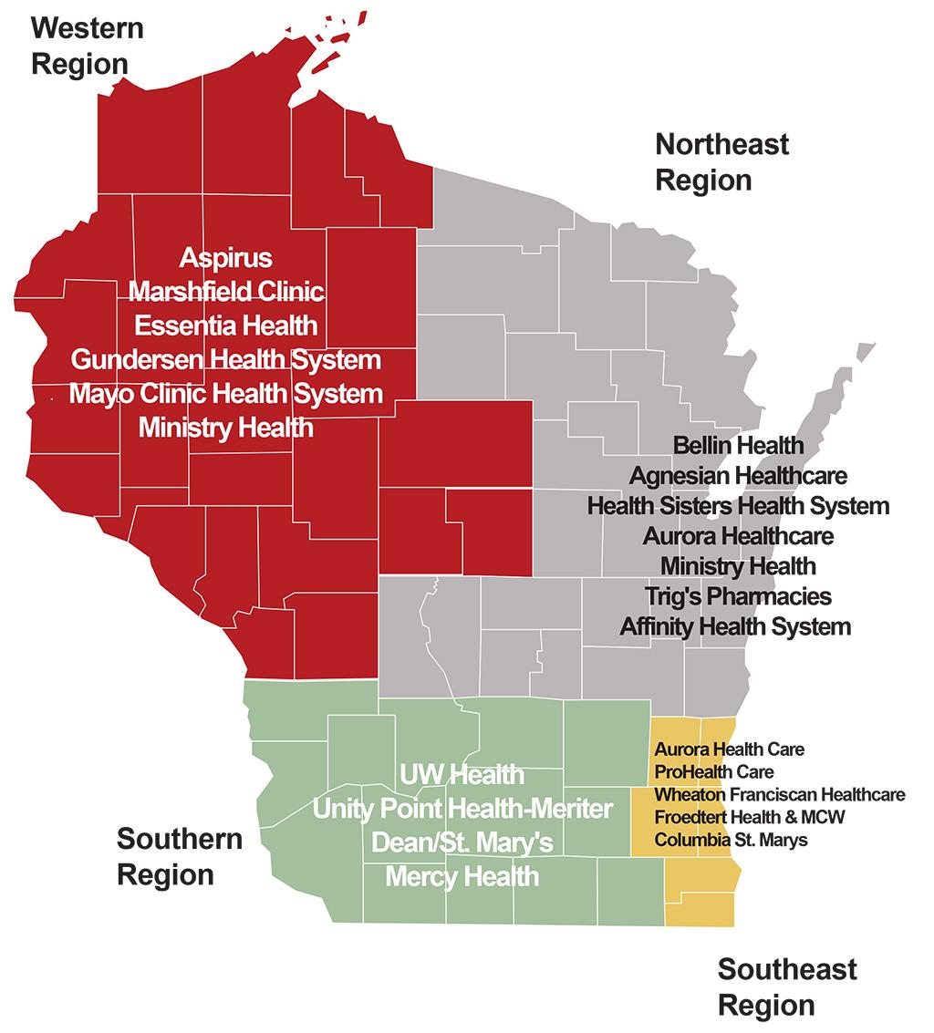 UW-CTRI regional outreach map
