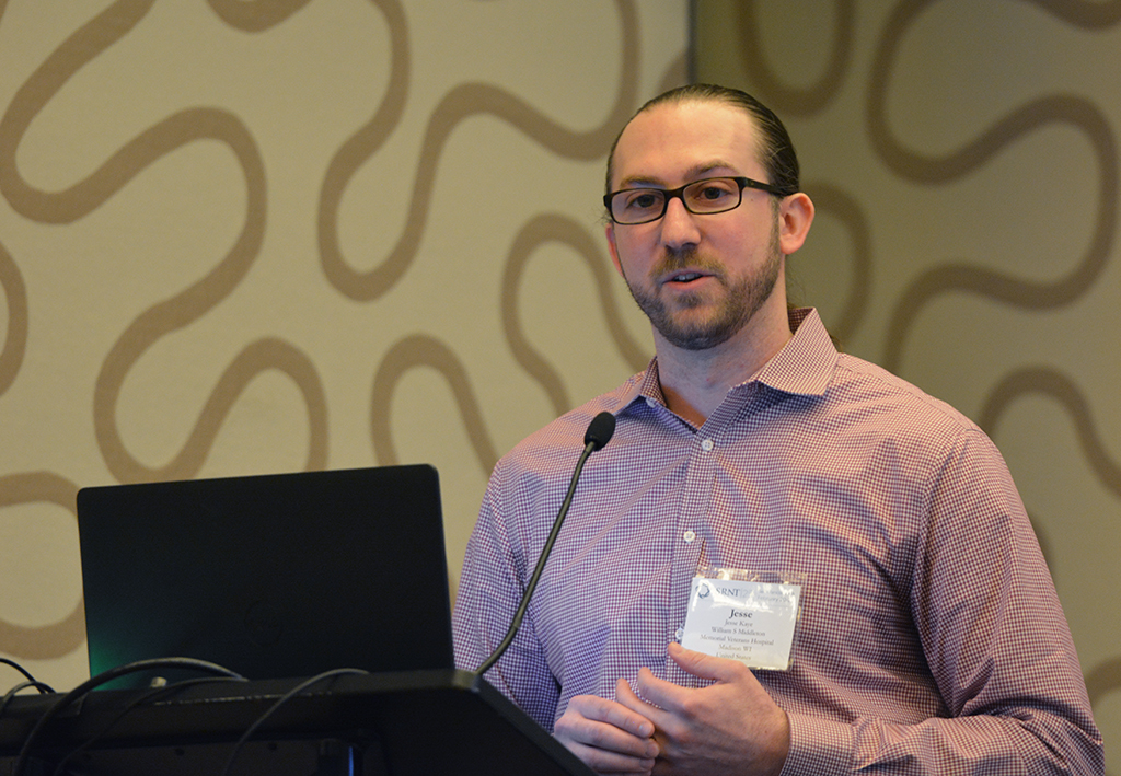 UW-CTRI Postdoctoral Fellow Dr. Jesse Kaye presents his research at SRNT 2019 in San Francisco.
