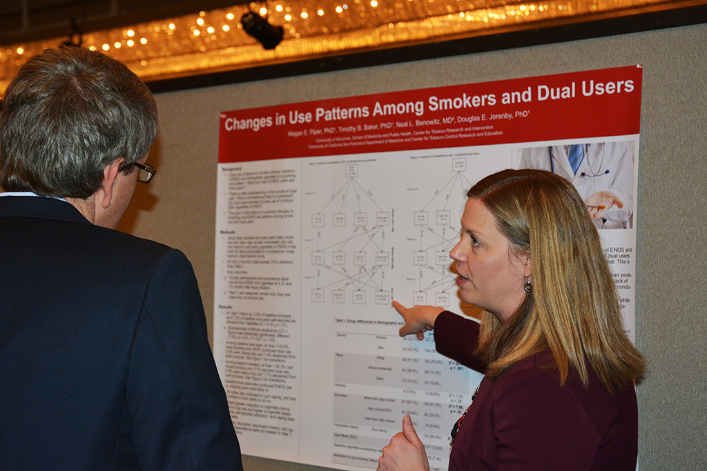 Dr. Megan Piper discusses research findings on smoking and vaping during the SRNT 2019 conference in San Francisco.